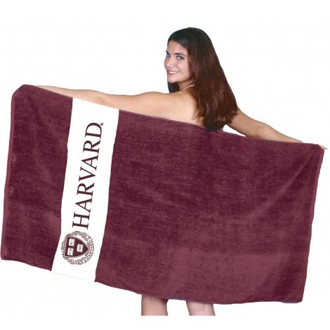 Harvard Rugby Stripe Beach Towel