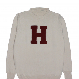 Harvard Traditional Letter Crew Neck Sweater