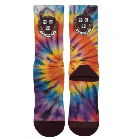 Harvard Tie Dye Spiral Crew Socks