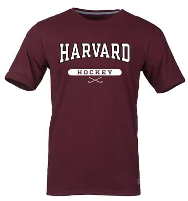 Harvard Maroon Hockey Tee Shirt