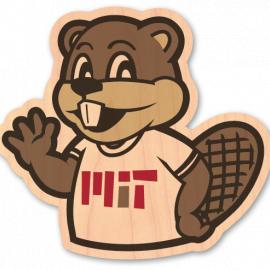 MIT TIM Wood Sticker