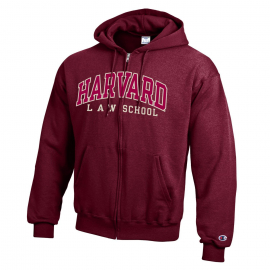 Harvard Law School Applique Full Zip Maroon Sweatshirt