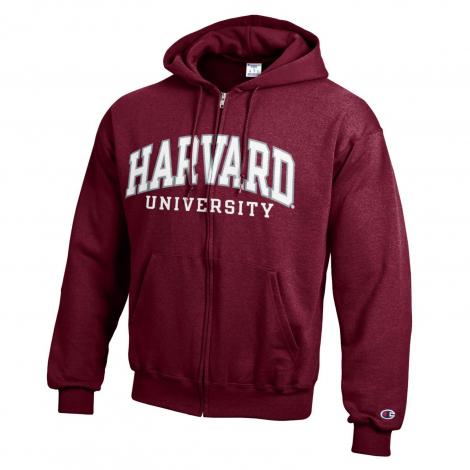 Harvard Champion Arched Harvard Applique Full-Zip Hooded Sweatshirt