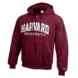 Harvard Champion Arched Harvard Applique Full-Zip Hooded Sweatshirt