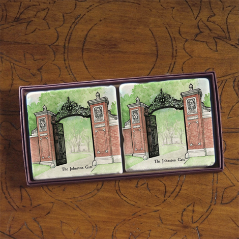 Harvard Screencraft Tileworks Set of 2 Marble Coasters Johnston Gate