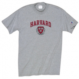 Youth Grey T Shirt w/ Harvard Seal