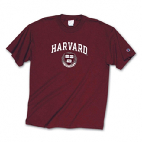 Youth Harvard Tee Shirt with Seal Design