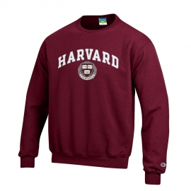 Harvard w/ Seal Youth Crew Maroon Sweatshirt