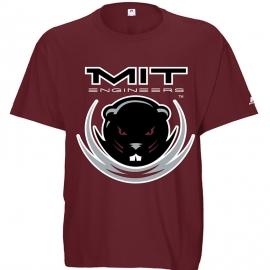 MIT Beaver Maroon T Shirt