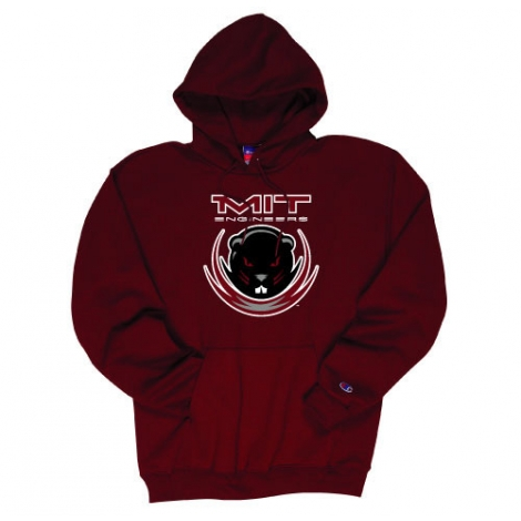 MIT Maroon Beaver Youth Hooded Sweatshirt
