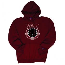 Maroon Beaver Youth Hooded Sweatshirt