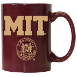 MIT Maroon w/ Gold MIT & Seal Mug