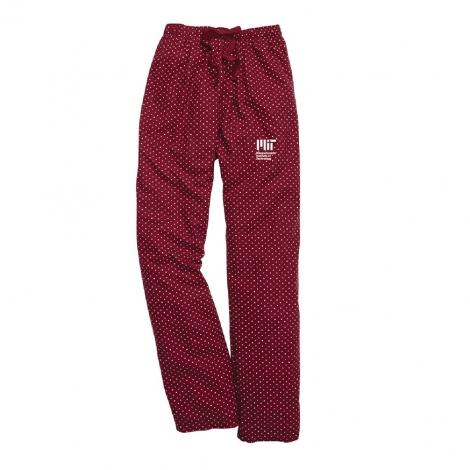 MIT Maroon Swiss Dot Pants