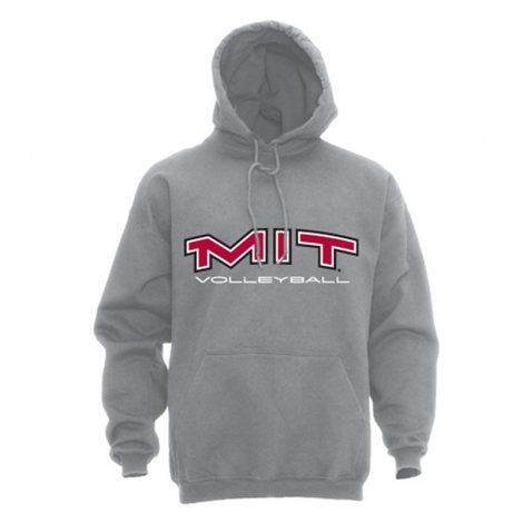 MIT Grey Volleyball Hooded Grey Sweatshirt