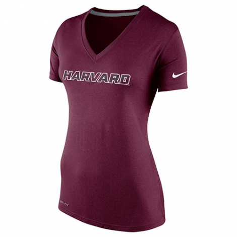 Nike Women's V -Neck Dry Fit  Maroon T Shirt