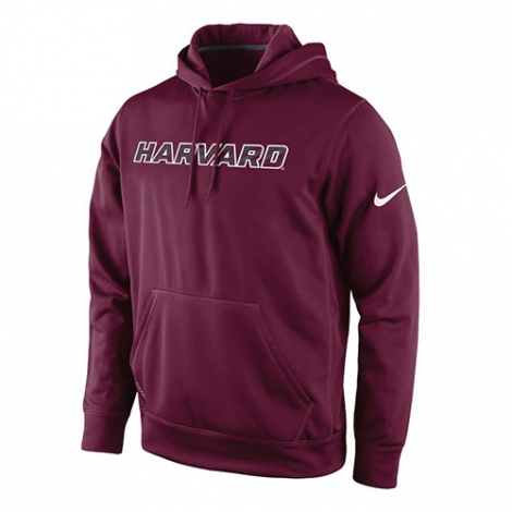 Harvard Men's Nike Performance Therma-Fit Hooded Sweatshirt