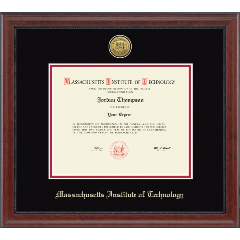 MIT Gold Engraved Medallion Diploma Frame in Signature