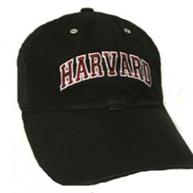 Harvard Black Unstructured Hat