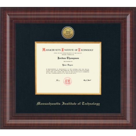 MIT Presidential Gold Engraved Diploma Frame in Premier