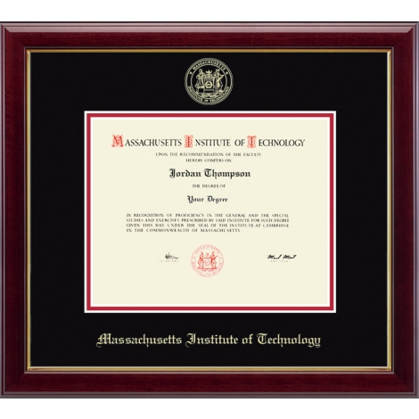MIT Gold Embossed Diploma Frame in Gallery or Regency Gold