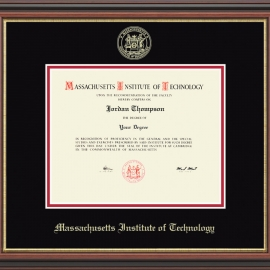 Gold Embossed MIT Diploma Frame