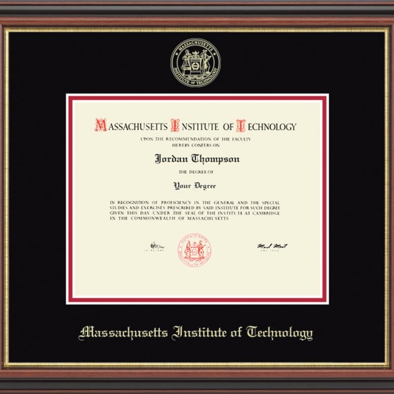 Gold Embossed MIT Diploma Frame