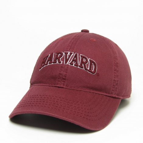 Harvard Women's Arched Logo Washed Twill Hat