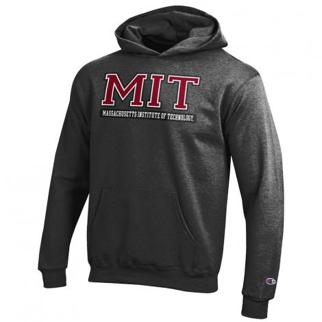 MIT Youth Versa Twill Grey Hooded Sweatshirt