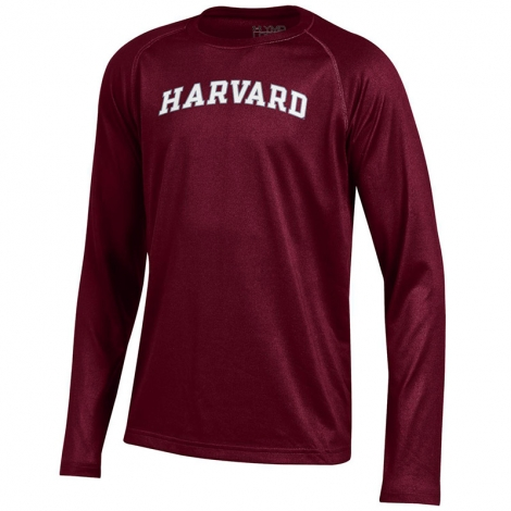 Under Armour Maroon Harvard Youth Long Sleeve T Shirt
