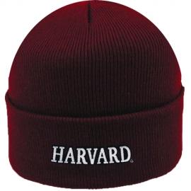 Maroon  Harvard Cuffed Knit Hat