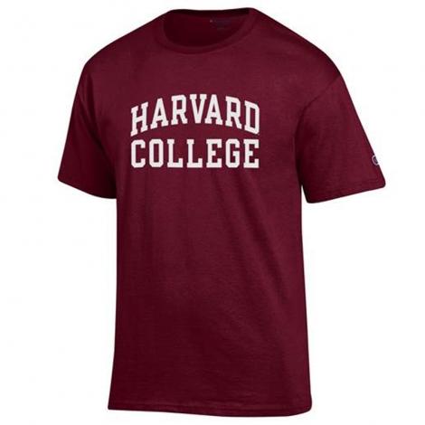 Harvard College Maroon Tee Shirt