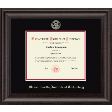 Gold Embossed MIT Diploma Frame in Acadia