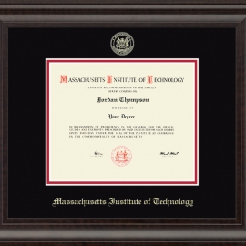 MIT Gold Embossed Diploma Frame in Acadia