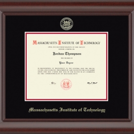 MIT Gold Embossed Diploma Frame in Rainier