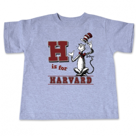 Dr Seuss Harvard Grey Toddler Tee Shirt