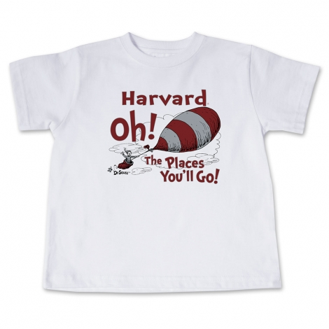 Dr Seuss Harvard Toddler White Tee Shirt