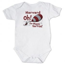 Dr Seuss Harvard Infant White Bodysuit