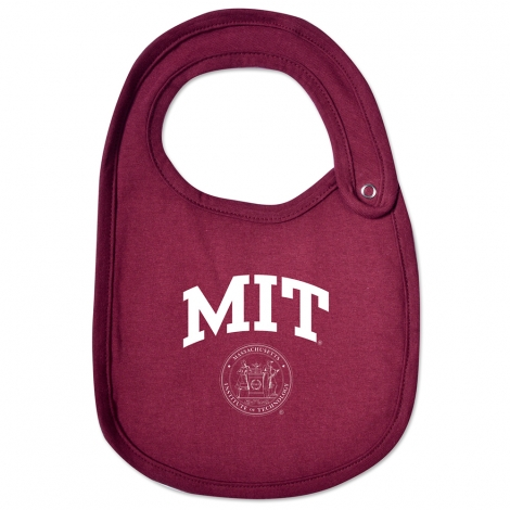 MIT Maroon Infant Bib
