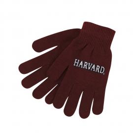 Harvard Maroon Stretch Knit Gloves