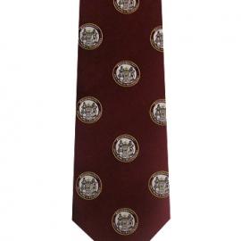 M.I.T. Maroon Medallion Seal 100% Silk Tie