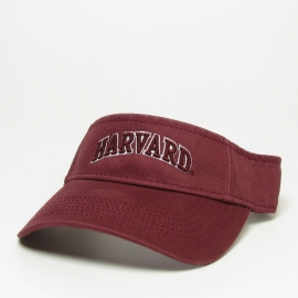 Harvard Arched Logo Washed Twill Visor