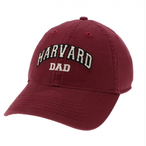 Harvard Dad Embroidered Washed Twill Hat