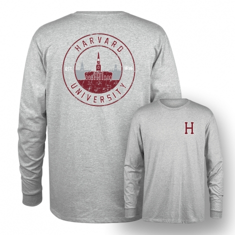 Harvard Tri-Blend Long Sleeve Tee Shirt