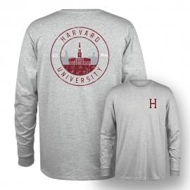 Harvard Tri-Blend Long Sleeve Tee Shirt