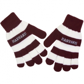 Harvard Rugby Maroon & White embroidered gloves
