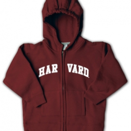 Maroon Full-Zip Infant Harvard Sweatshirt