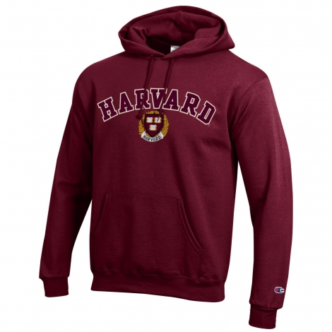 Harvard Champion Applique Hooded Sweatshirt