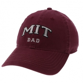 MIT Dad Embroidered Washed Twill Hat