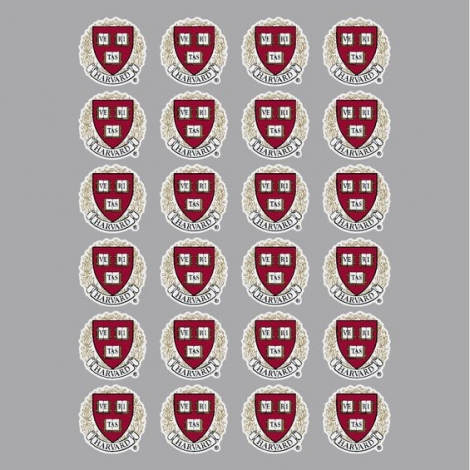 Harvard Seal Sticker Sheet