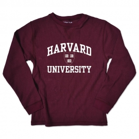 Youth Harvard Thermal Maroon Long Sleeve Tee Shirt